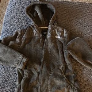 The North Face fuzzy zip up large women's